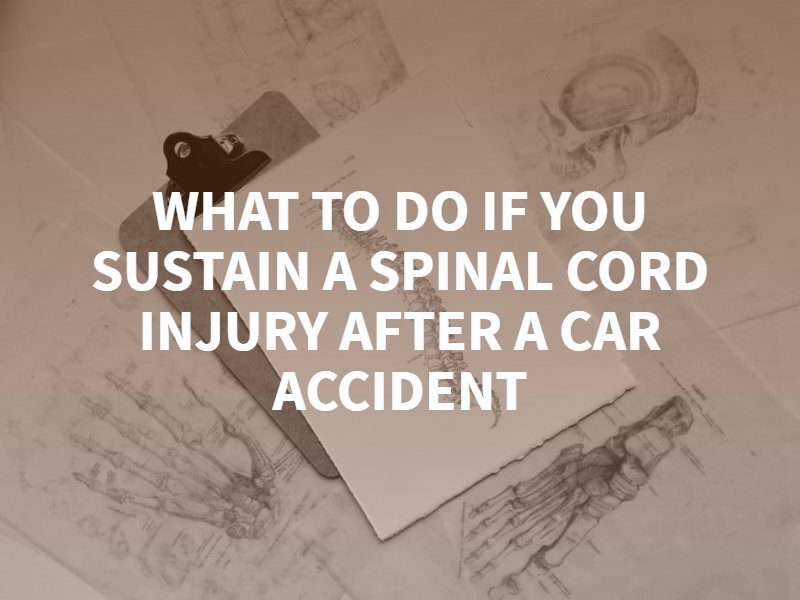 What To Do If You Sustain A Spinal Cord Injury After A Car Accident